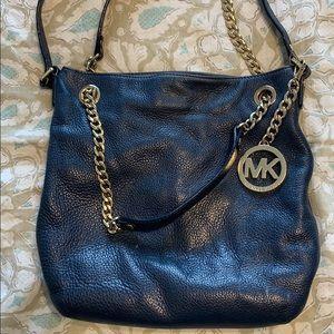 Michael Kors Blue Leather Shoulder Crossbody Bag